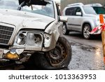 car crash accident on street... | Shutterstock . vector #1013363953