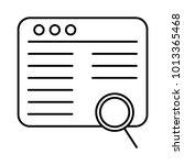 magnifier web browsing  | Shutterstock .eps vector #1013365468