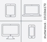 line icon  devices | Shutterstock .eps vector #1013366170