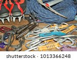 Climbing Gear Laid Out On A...