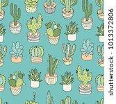 cactus seamless pattern. | Shutterstock .eps vector #1013372806