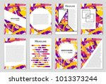 abstract vector layout... | Shutterstock .eps vector #1013373244