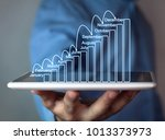 businessman holding business... | Shutterstock . vector #1013373973