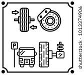 car service set icon vector | Shutterstock .eps vector #1013374906