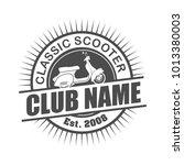 scooter club logo design... | Shutterstock .eps vector #1013380003