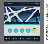 website template with abstract...