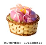 easter eggs isolated on white | Shutterstock . vector #1013388613