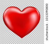 red heart isolated with... | Shutterstock .eps vector #1013390800