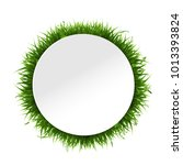 banner with grass border... | Shutterstock .eps vector #1013393824
