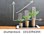 coins saving growth up increase ... | Shutterstock . vector #1013396344