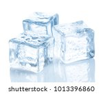 ice cubes on white background | Shutterstock . vector #1013396860