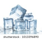 ice cubes on white background | Shutterstock . vector #1013396890