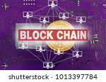 block chain concept | Shutterstock . vector #1013397784