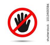 forbidden sign  icon. vector... | Shutterstock .eps vector #1013400586