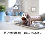 ai  artificial intelligence ... | Shutterstock . vector #1013402350