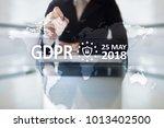 gdpr. data protection...   Shutterstock . vector #1013402500