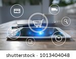 e commerce. internet shopping.... | Shutterstock . vector #1013404048