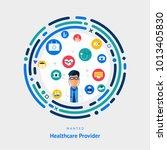 flat design concept healthcare... | Shutterstock .eps vector #1013405830