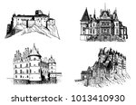 graphical set of medieval...   Shutterstock .eps vector #1013410930