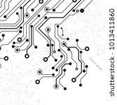 circuit board  technology...   Shutterstock .eps vector #1013411860