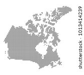 pixel mosaic map of canada on...