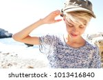 portrait of young tourist... | Shutterstock . vector #1013416840