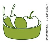 chillis with tomato on bowl | Shutterstock .eps vector #1013418574