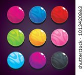 color bubbles  balls set on the ...