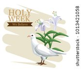 holy week catholic tradition | Shutterstock .eps vector #1013421058