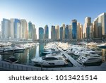 dubai marina at sunset  united... | Shutterstock . vector #1013421514