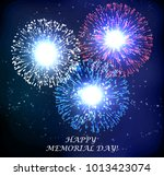 abstract fireworks. day of... | Shutterstock .eps vector #1013423074