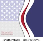 abstract image of the american... | Shutterstock .eps vector #1013423098