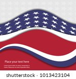 abstract image of the american... | Shutterstock .eps vector #1013423104
