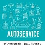 auto service landscape concept. ... | Shutterstock .eps vector #1013424559