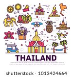 country thailand travel...   Shutterstock .eps vector #1013424664