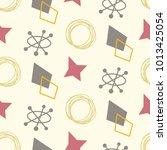 mid century modern seamless... | Shutterstock .eps vector #1013425054