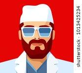 man as doctor or nurse.... | Shutterstock .eps vector #1013425234