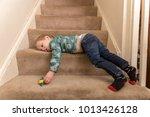 a young caucasian toddler boy... | Shutterstock . vector #1013426128