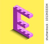 3d isometric pink letters from... | Shutterstock .eps vector #1013433334