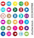 arrow sign icon set.   Shutterstock .eps vector #1013433988