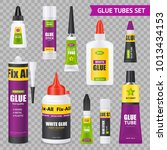 glue sticks bottles tubes with... | Shutterstock .eps vector #1013434153