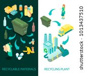 waste material collection... | Shutterstock .eps vector #1013437510