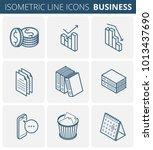business stationery. isometric... | Shutterstock .eps vector #1013437690