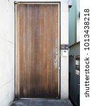 old vintage timber pivot door... | Shutterstock . vector #1013438218
