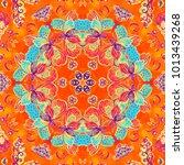 colorful watercolor...   Shutterstock . vector #1013439268
