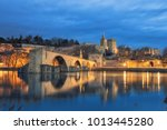 view on pont d'avignon 12th... | Shutterstock . vector #1013445280