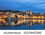 view on pont d'avignon 12th... | Shutterstock . vector #1013445280