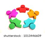 children playing together. 3d... | Shutterstock . vector #1013446609
