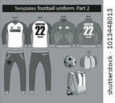 a set of temlates of football... | Shutterstock .eps vector #1013448013