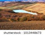 tuscany  italy landscape. super ... | Shutterstock . vector #1013448673